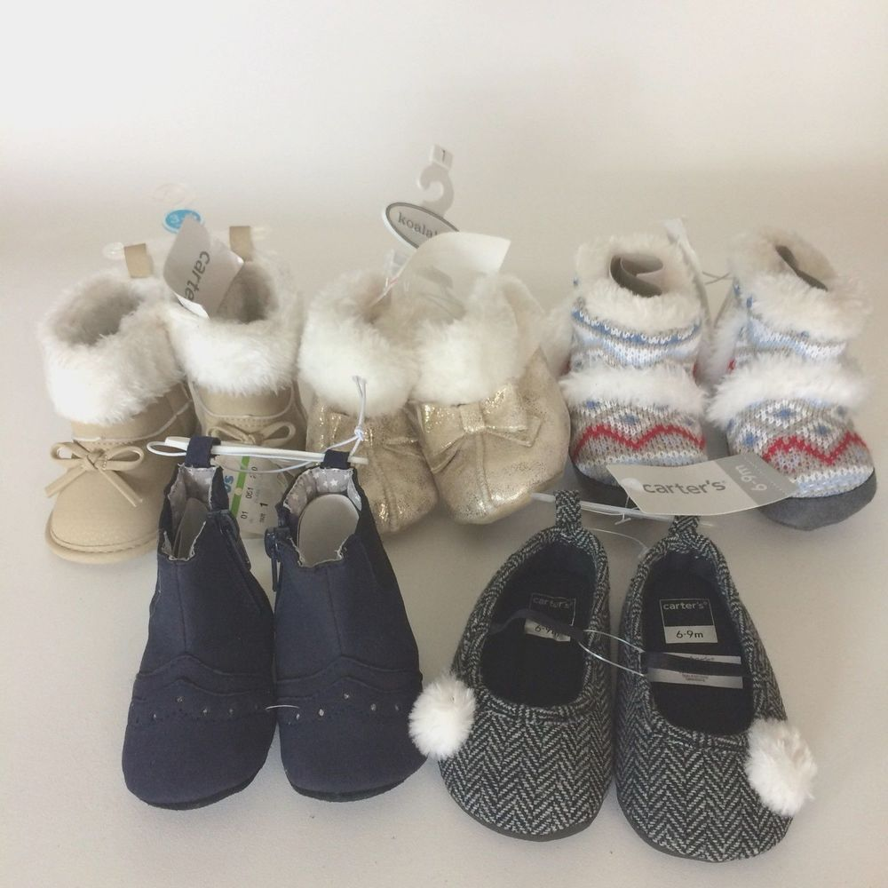 a6a5ef4e92e Baby Girl Shoes Boots Lot 5 Koalababy Carters 3 months to 1 Toys R Us Tags   CartersKoalababy