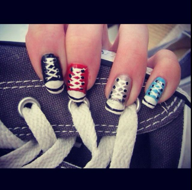 Pinterest Converse Art Nail Unghie Nails qXAtn4w0