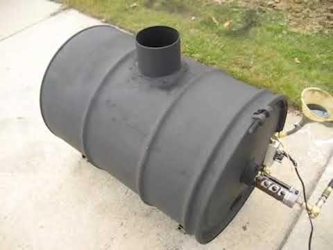Waste oil heater joe pipe babington burner pinterest for Used motor oil heaters
