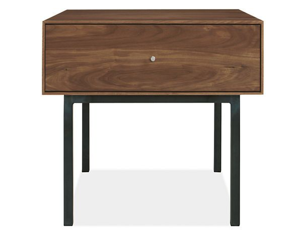 Room Board Hudson 24w One Drawer End Table With Steel Base