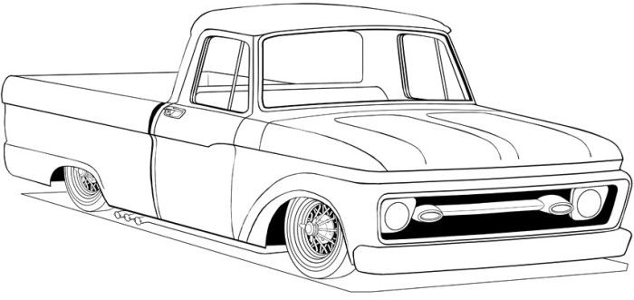 ford pikup classic coloring page