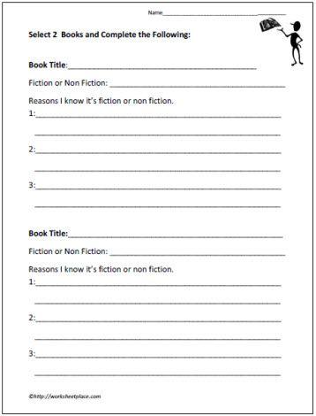 Fiction Vs Non Fiction Graphic Organizer Fiction Vs Nonfiction Nonfiction Nonfiction Lessons