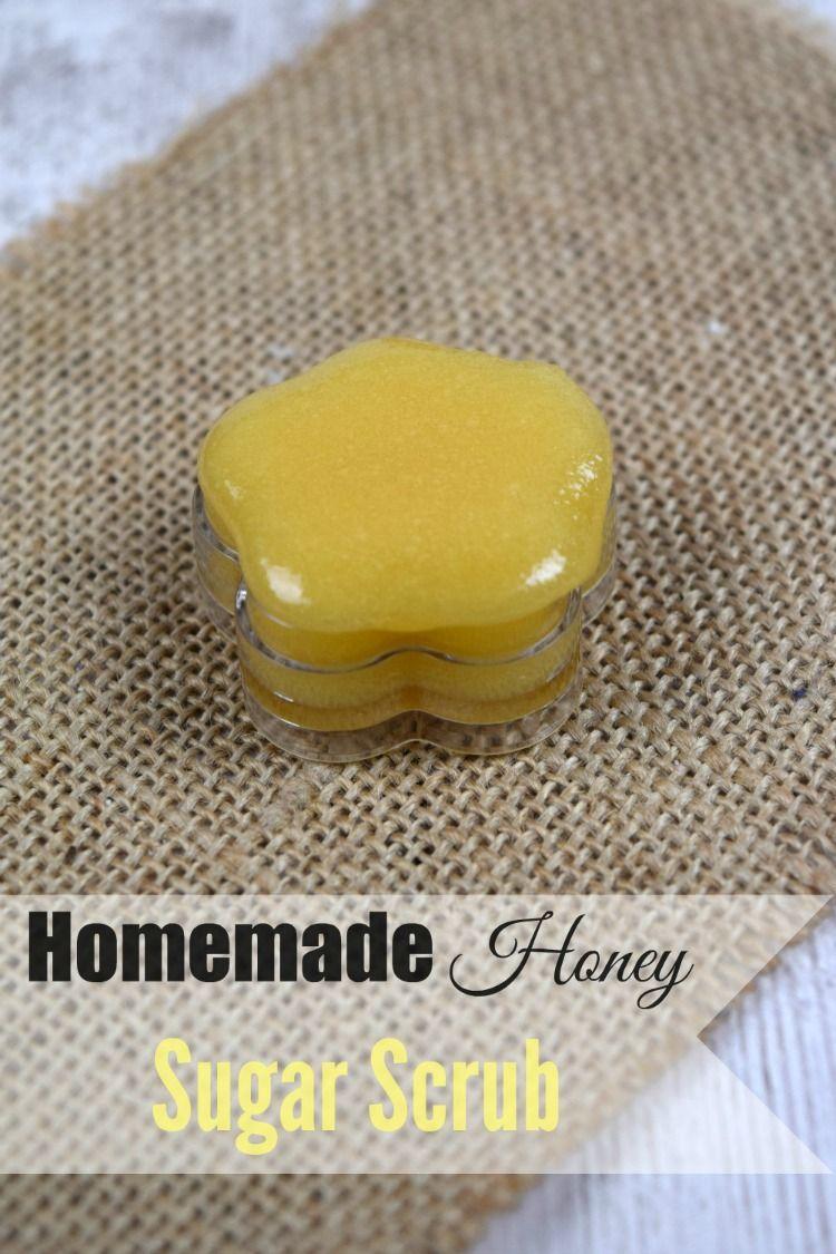 Homemade Honey Lip Scrub. homemade beauty product recipes
