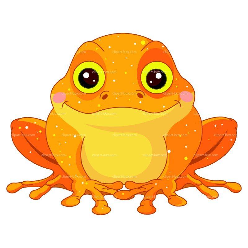 Clipart Orange Toad Royalty Free Vector Design