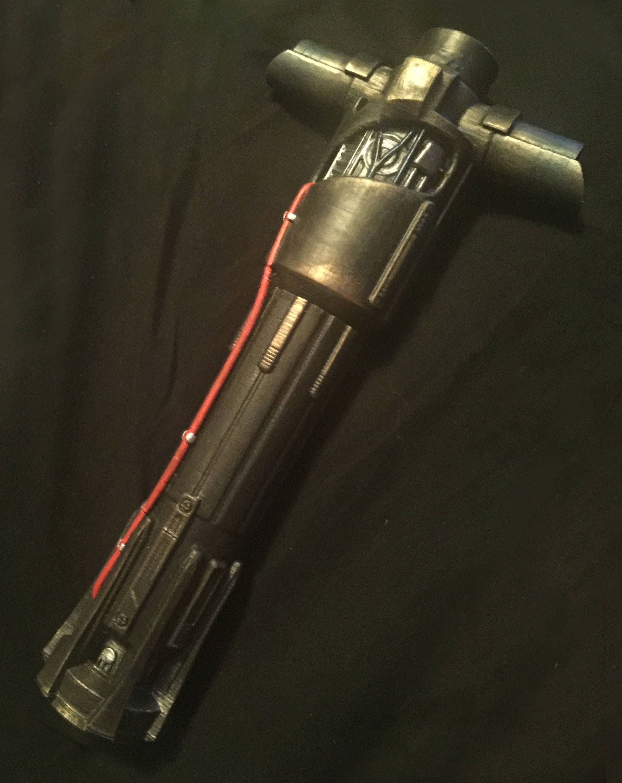 Star Wars Inspired Kylo Ren Painted Lightsaber