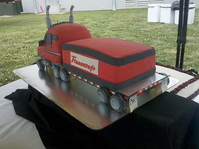 Transcraft Tractor Trailer Cake 2nd View Cakes Pinterest Cake