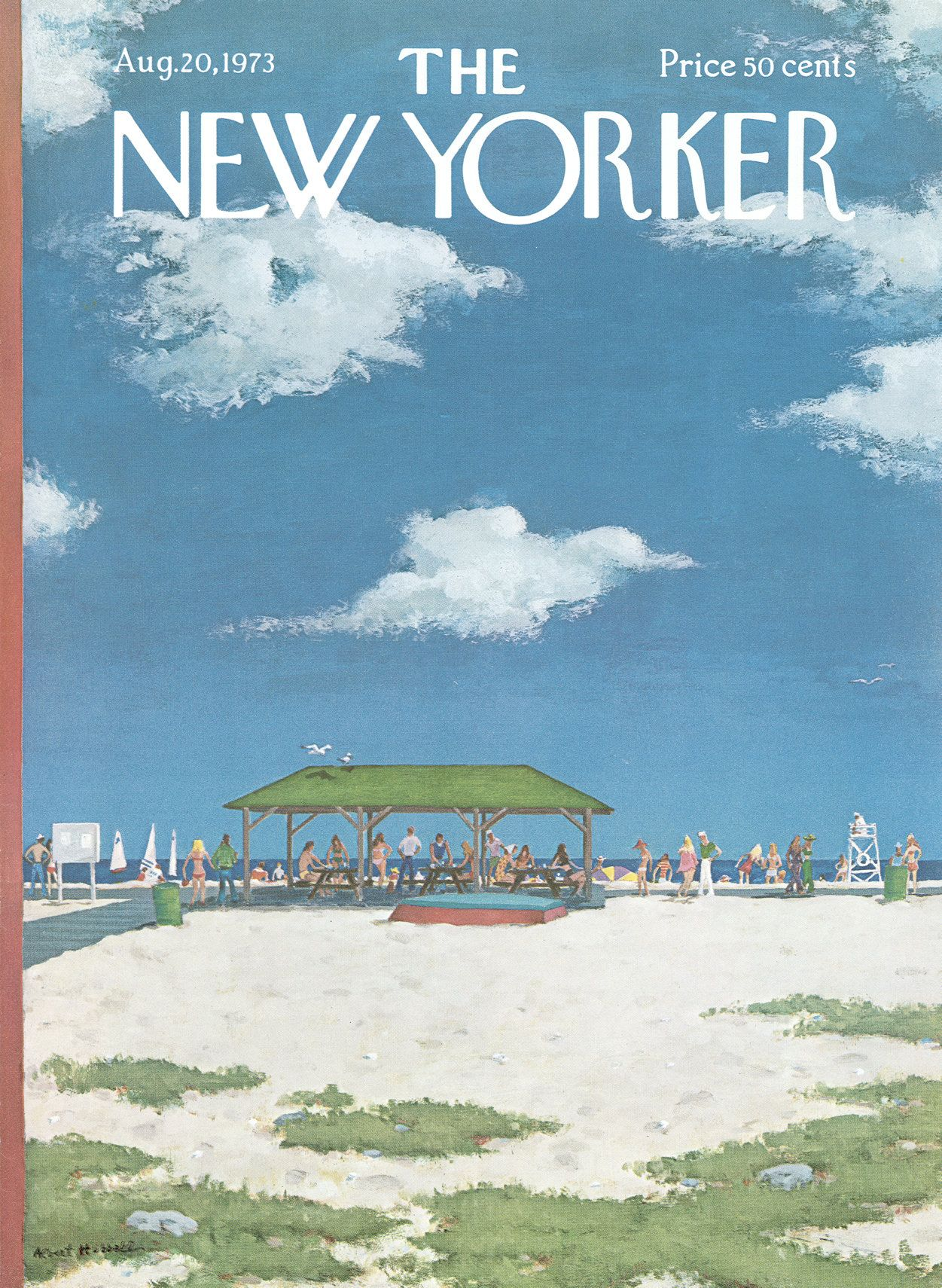 The New Yorker - Monday, August 20, 1973 - Issue # 2531 - Vol. 49 - N° 26 -  Cover by : Albert Hubbell