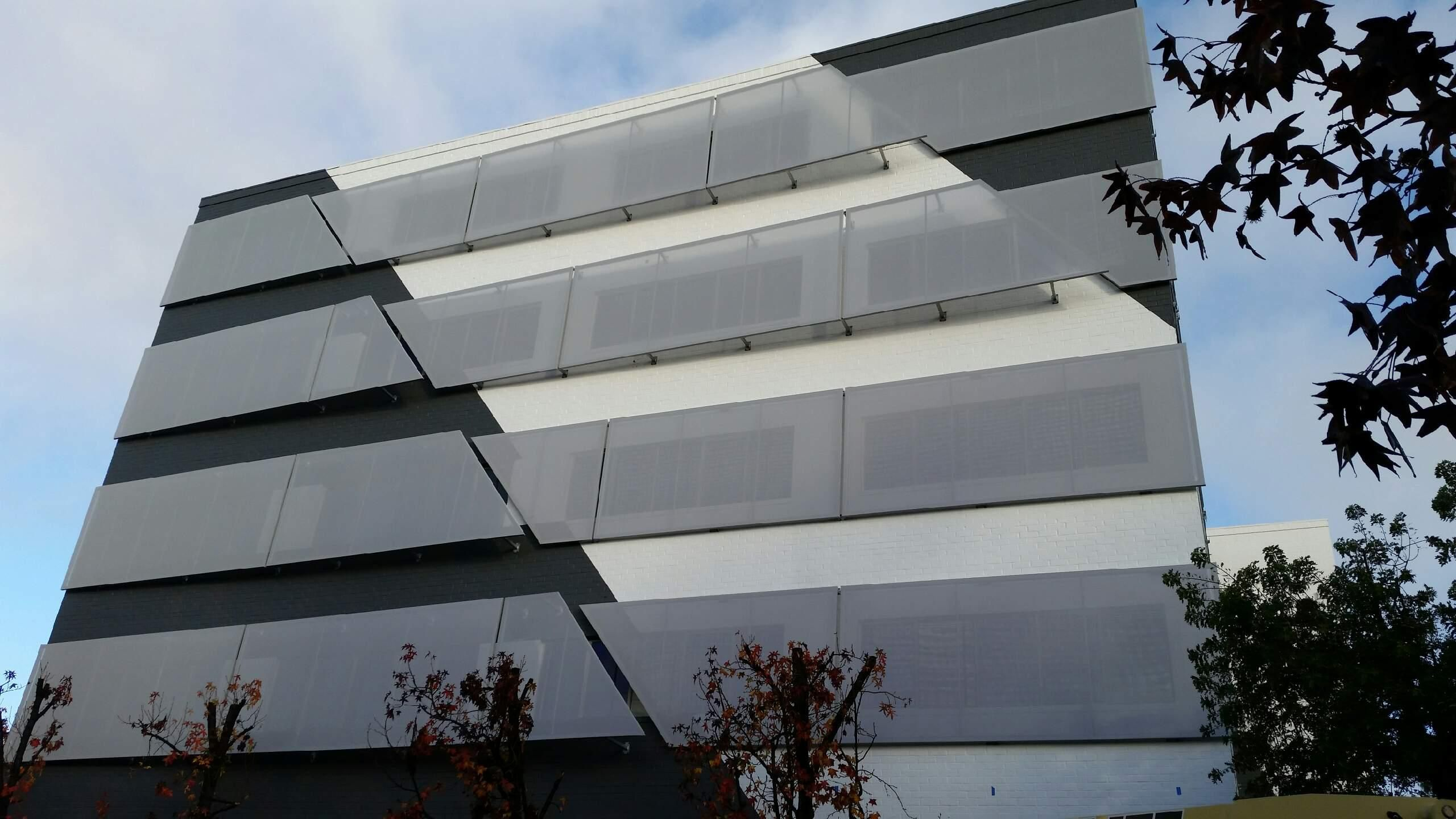 Telenor Arena • Oslo Norway • Bioclimatic textile facade made with Serge Ferrari flexible posite material Pinterest