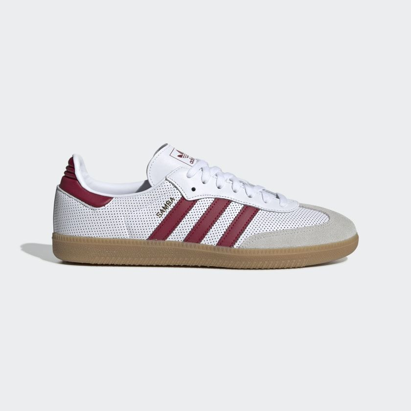 Samba OG Shoes Cloud White Collegiate Burgundy Grey