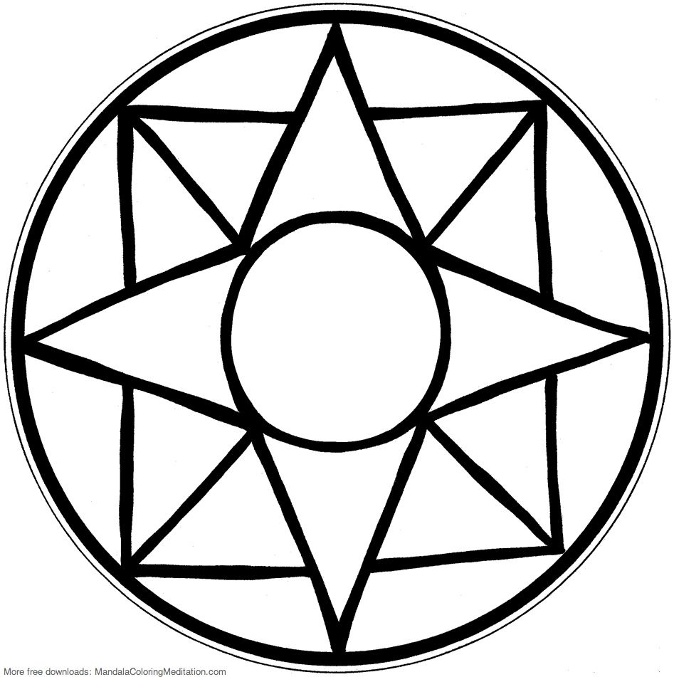easy mandala coloring pages Photos | Mosaic table top ...
