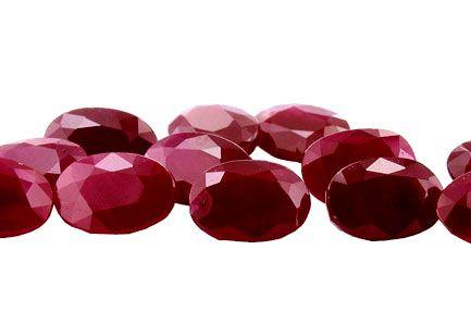 Rubies - 0.52 ct - Shape : Oval - Dim. 5 x 4 mm -  Thailand - 89.00 € each