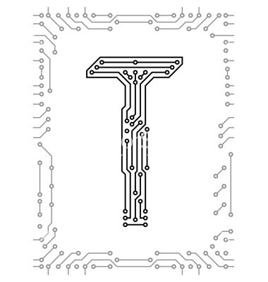 Super Alphabet Of Printed Circuit Boards Vector Logo Design Printed Wiring 101 Swasaxxcnl