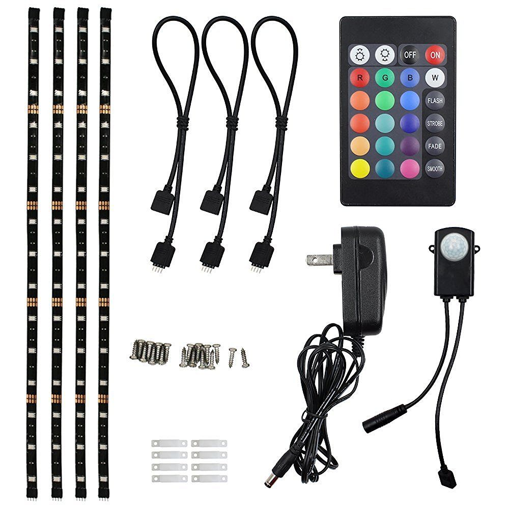 Home Theater Rope Lighting: TORCHSTAR LED Multi-color RGB Home Theater TV Backlight