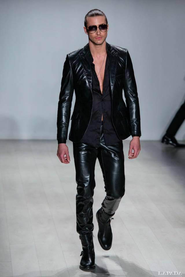 39c2e5e14eb2 Barrett Lucak   Cuir homme   Pinterest   Leather, Guy fashion and ...
