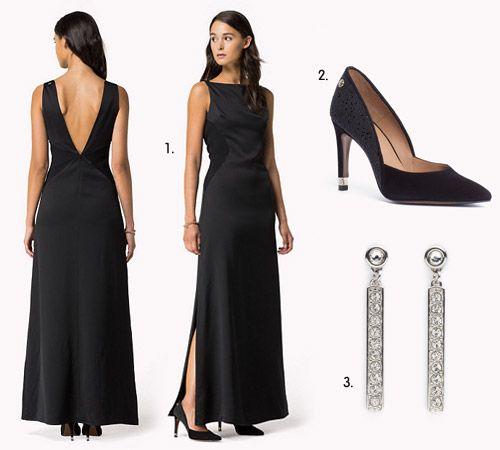 Quelle chaussure avec robe longue noire