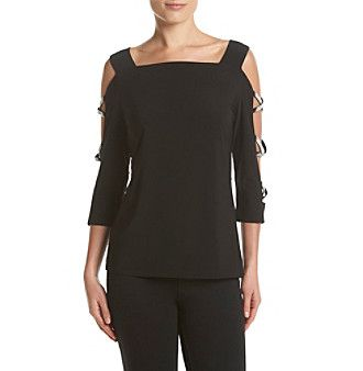 MSK® Criss Cross Sleeve Top