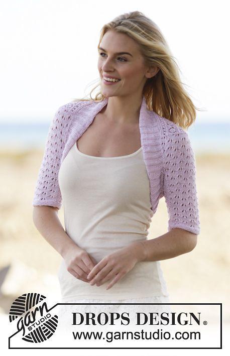 Mette Bolero By Drops Design Free Knitted Pattern Ravelry