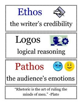 Printables Ethos Pathos Logos Worksheet 1000 images about ethospathoslogos argumentation on pinterest communication skills word walls and tables