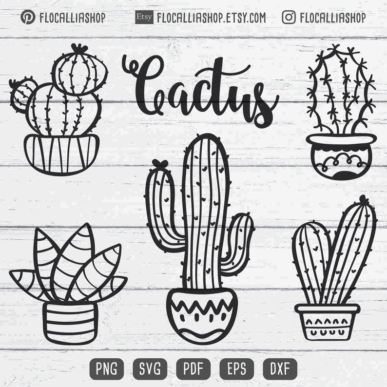 Cactus SVG Cactus cricut svg file Cactus clip art cactus