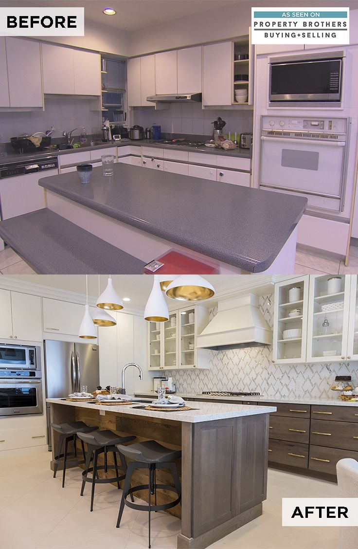 Our Season With Property Brothers Buying Selling Ended With A Coconut Finish This Kitche Kitchen Remodel Small Property Brothers Kitchen Off White Cabinets