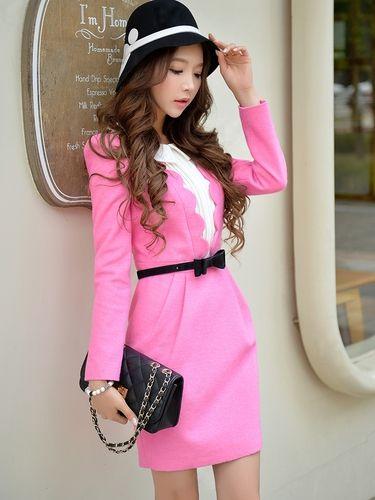 Rose Pink Color Petals Matching Cloth Fashion Designer Dress - Morpheus Boutique