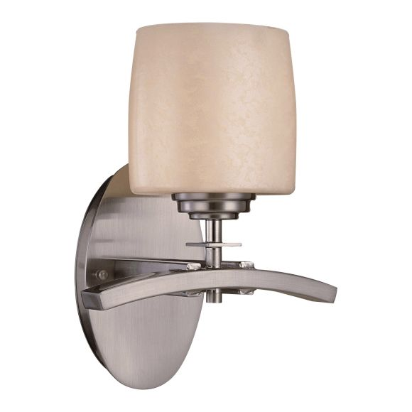 Minka Lavery Brushed Nickel 1 Light Wall Sconce From The Raiden Collection Brushed Nickel 6181 84 From Raiden Collection Sconces Wall Sconce Lighting Wall Sconces