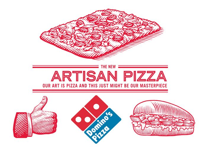 Domino S Pizza Box Illustrations By Steven Noble On Behance Dominos Pizza Artisan Pizza Steven Noble