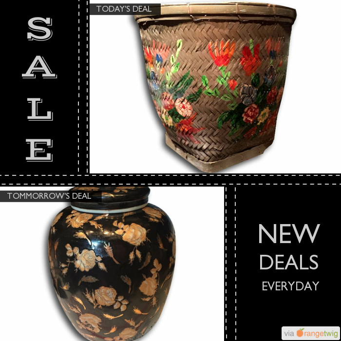 Today Only! 40% OFF this item. Follow us on Pinterest to be the first to see our exciting Daily Deals. Today's Product: Sale -  Huge Hand Painted Bamboo Basket Olive Green Storage Fireplace Decor Buy now: https://orangetwig.com/shops/AABdT38/campaigns/AACmnzZ?cb=2016006&sn=Heathertique&ch=pin&crid=AACmnnu&exid=241048622&utm_source=Pinterest&utm_medium=Orangetwig_Marketing&utm_campaign=05-02-16   #vintagefurnitureonline #homedecor