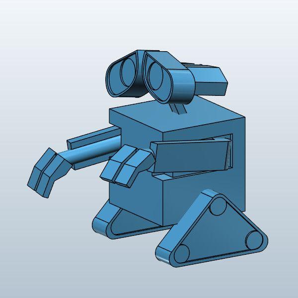 Wall E 3D Model Made with 123D 123D Design. Wall E 3D Model Made with 123D 123D Design   3D printer ideas