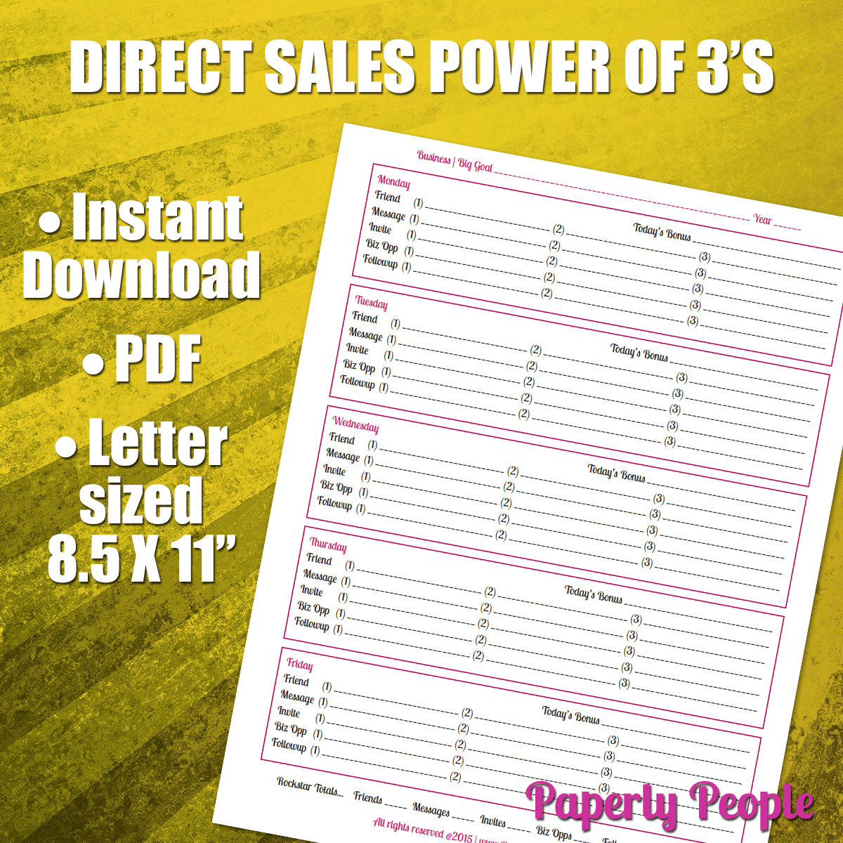 Direct Sales Worksheet