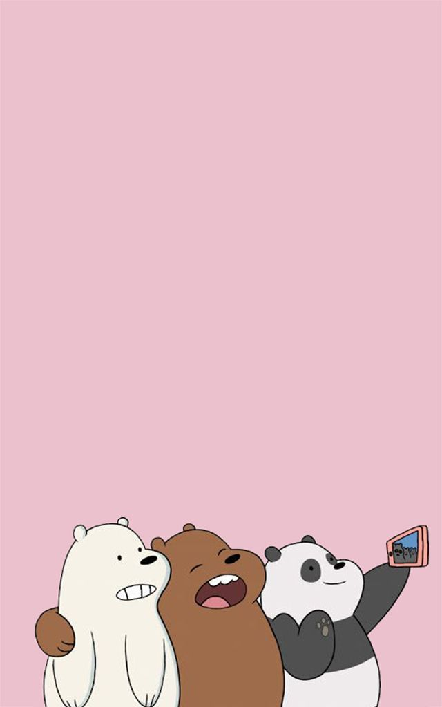 We Bare Bears Wallpaper Iphone 945517 Ilustrasi Karakter Boneka Hewan Binatang