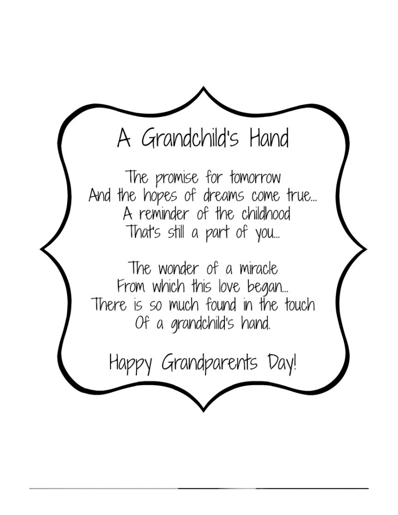 Grandparents day poem families pinterest for Sweet things to say to your grandma