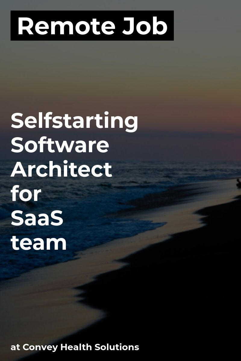 Remote Selfstarting Software Architect for SaaS team at