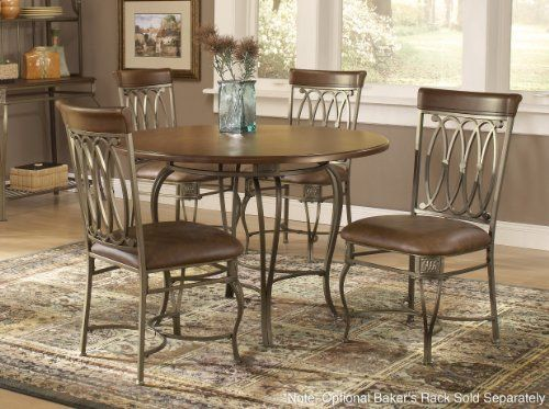 Hillsdale Furniture Montello 5 Piece Dining Set 45 Table By
