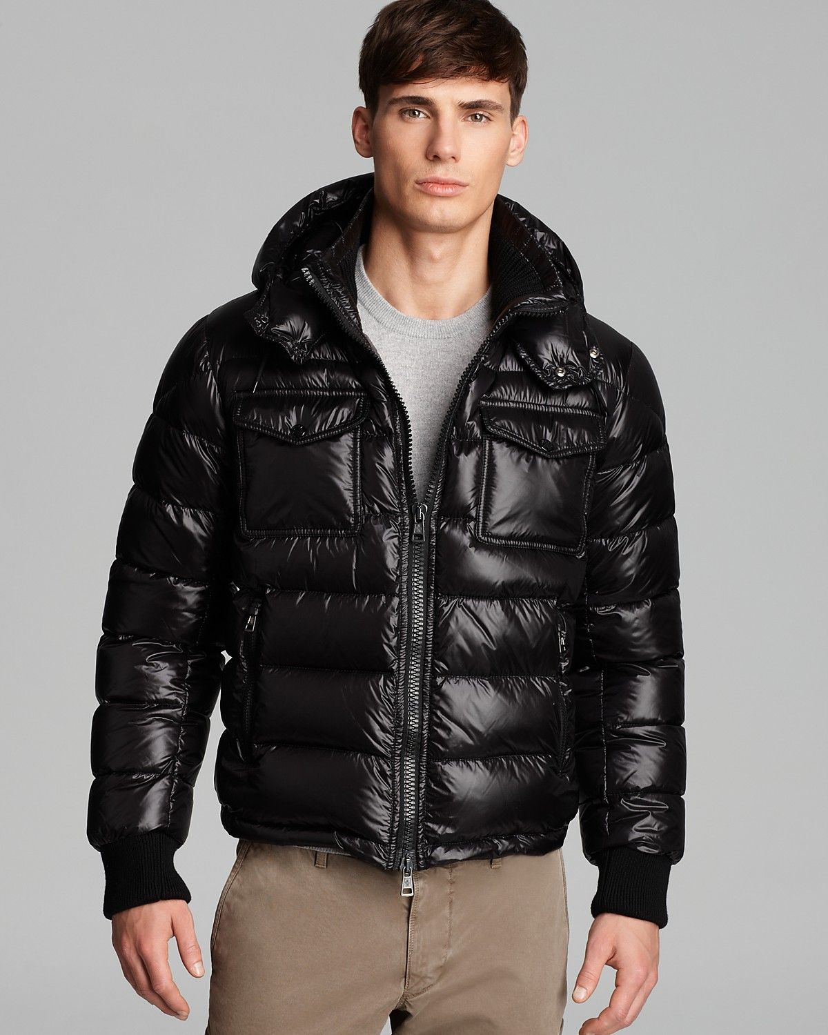 56e73ccce Moncler Fedor Shiny Quilted Down Coat | Bloomingdale's | Down Gear ...