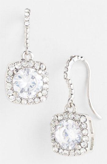 Crystal drop earrings. Love!
