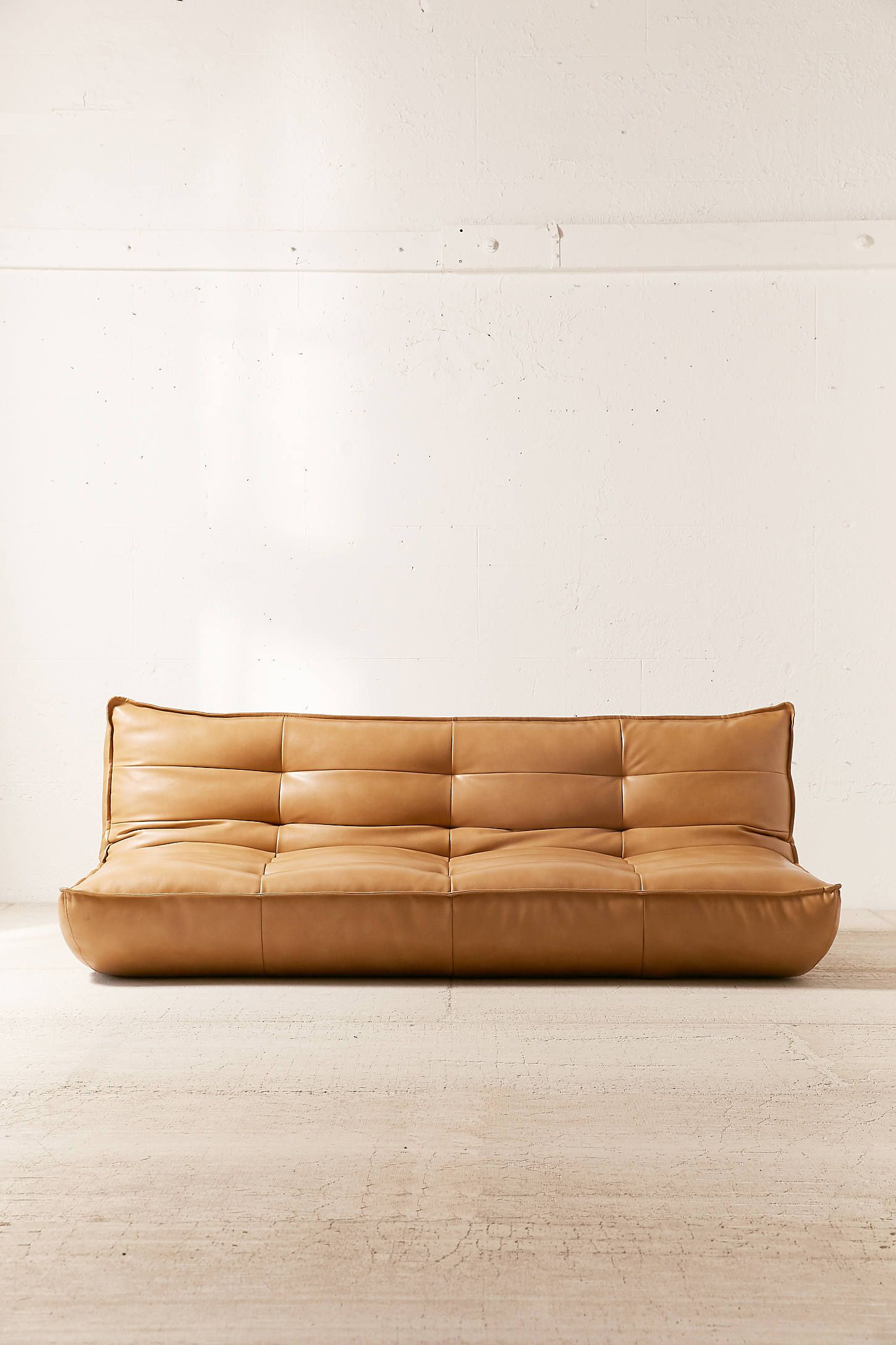 Greta Recycled Leather Xl Sleeper Sofa Urban Outfitters Leather Sleeper Sofa Sleeper Sofa Leather Sofa