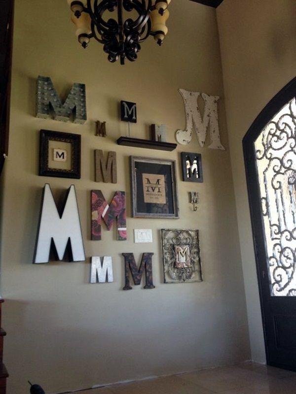 40 Creative Monogram Wall Art Ideas Letter Decor