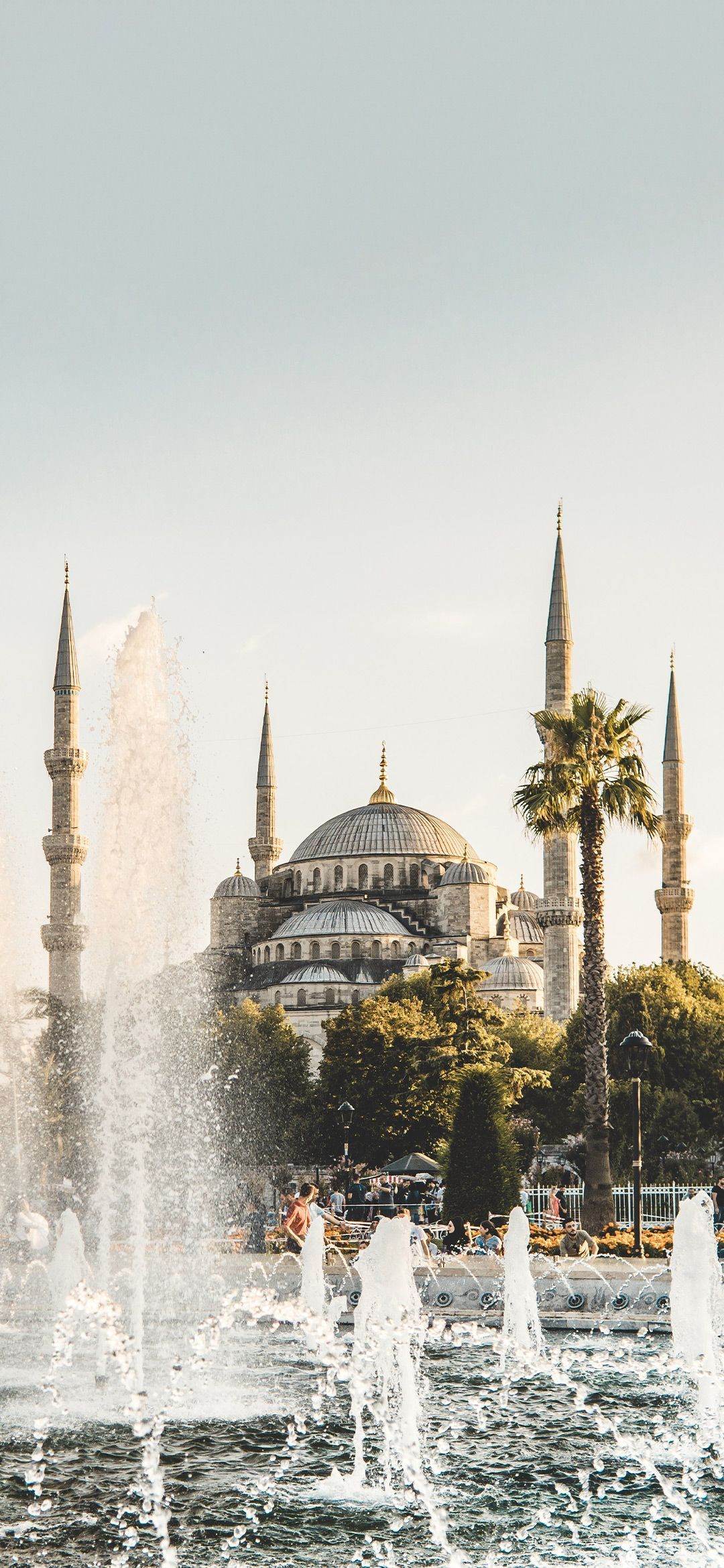 The Blue Mosque aka The Sultan Ahmed Mosque Smartphone Wallpaper #islam #islamicwallpaper Download Islamic Wallpaper App from PlayStore - Sharlene Lowery