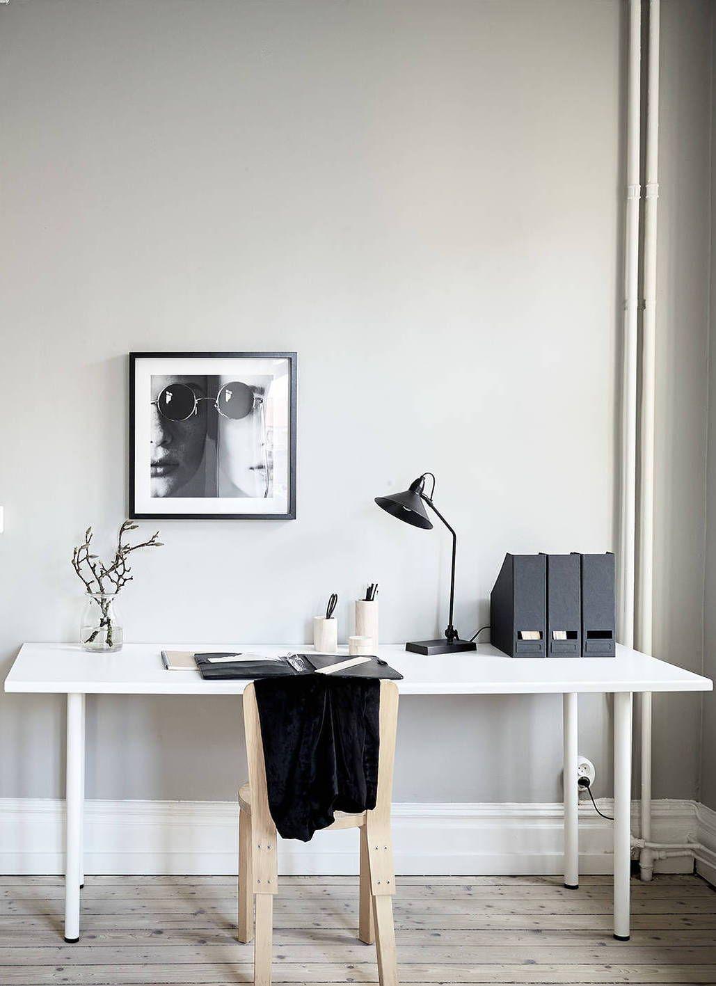 Arbeitszimmer modern einrichten  A cozy home with greige walls | Pinterest | Arbeitszimmer einrichten ...