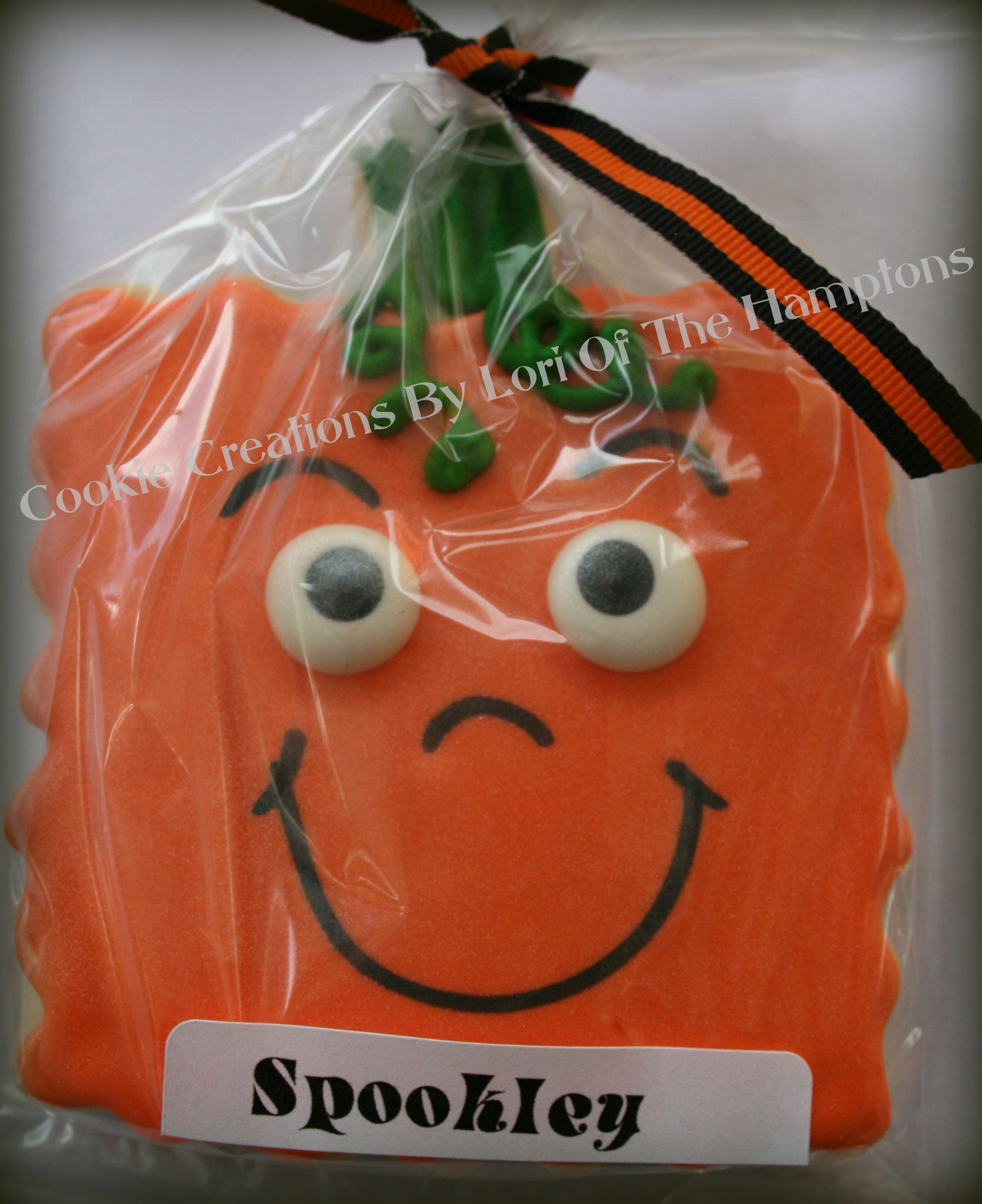 SpOoKley the square pumpkin decorated sugar cookie | HALLOWEEN ...