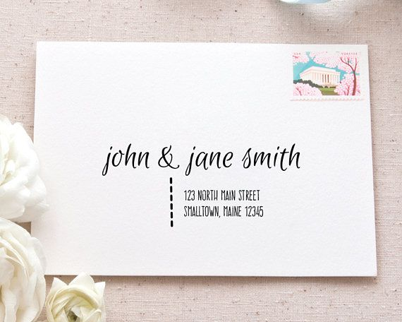 Printable Mailing Labels Template Casual Calligraphy Address