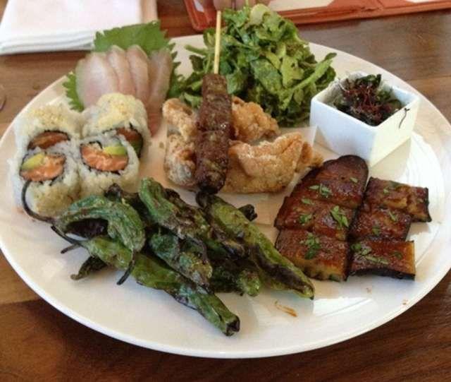 Bento Sampler Menu Restaurant Bento Food