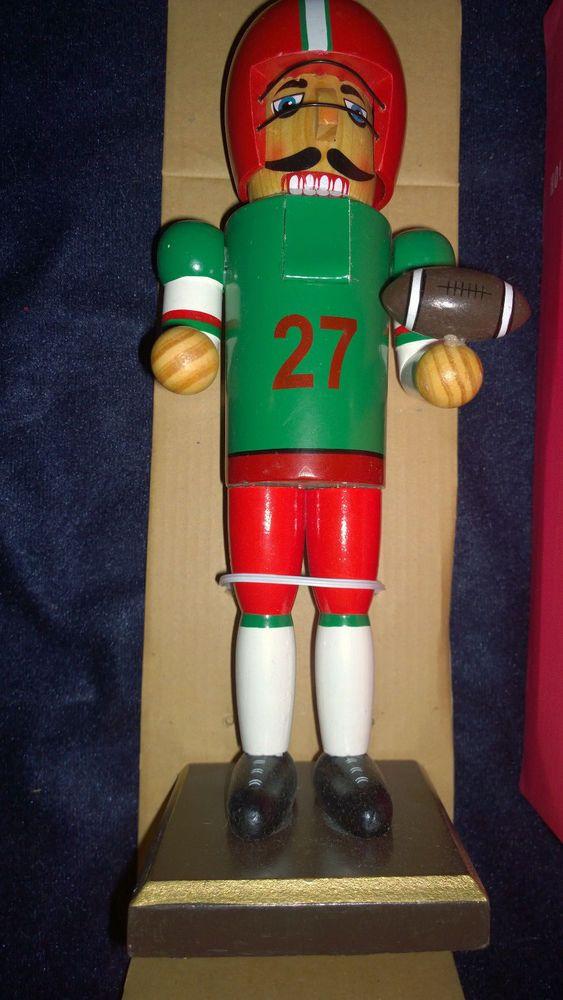 World Market Wooden 10 inch Football Player Nutcracker New ...