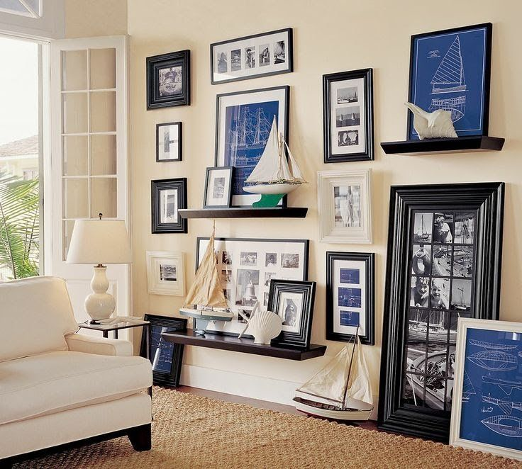 Nautical collection of sail boat pictures and models Coastal Decor