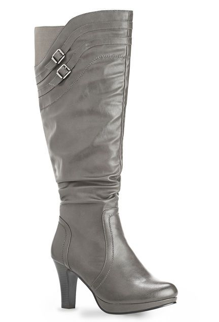 62ed2688d25 Tall Buckle Wide Width   Wide Calf Boot-Plus Size Boots-Avenue ...