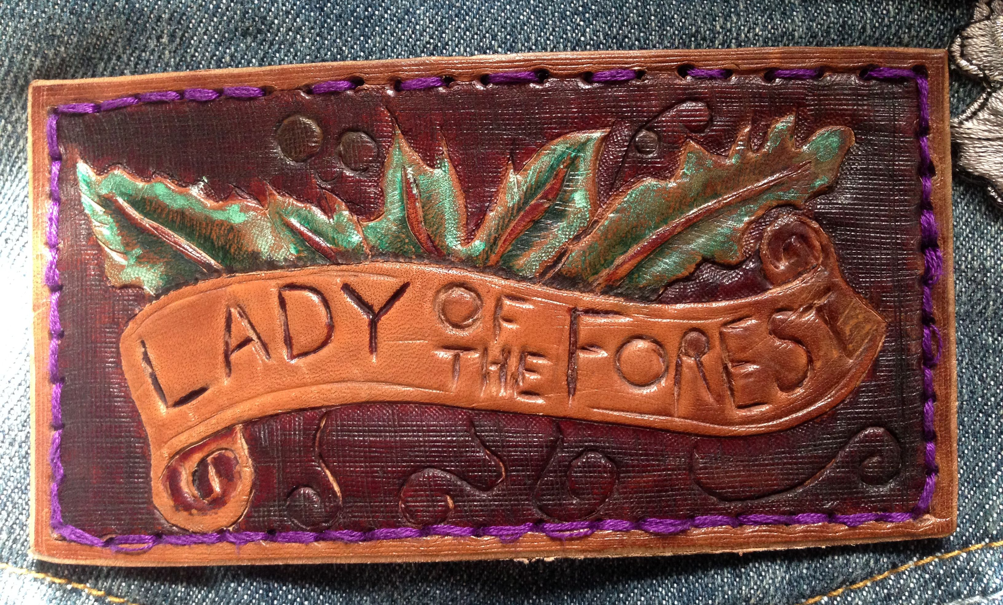Hand carved and designed leather commissioned patch by GCLA COMMISSIONED -SOLD