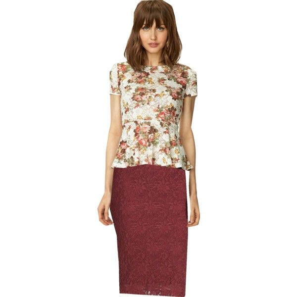 """""""Floral and lace"""" by lizzbiz on Polyvore"""