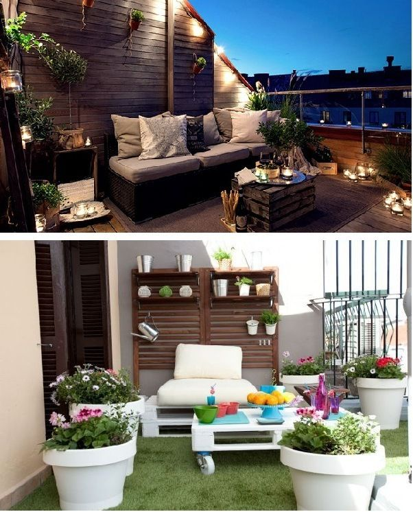 Terraza Chill Out Pequeña Rooftop Terrace Design