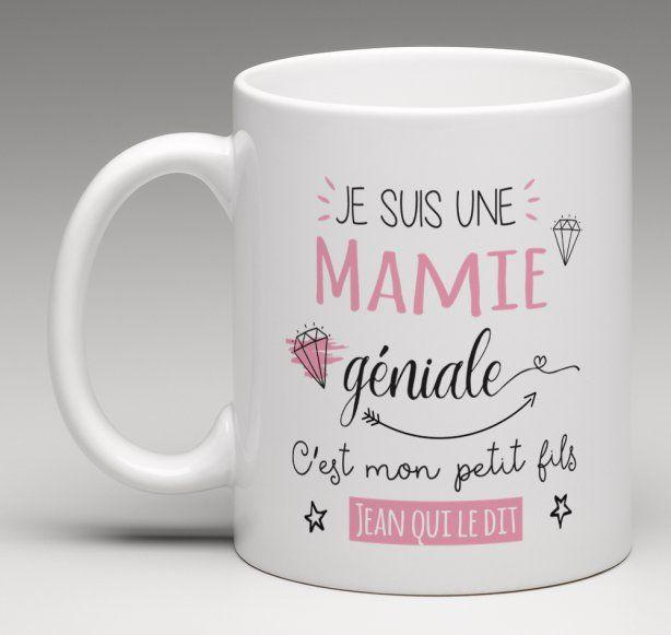 Mug cadeau personnalis pour une mamie g niale personnalis le monde et monde - Idee cadeau pour mamie ...
